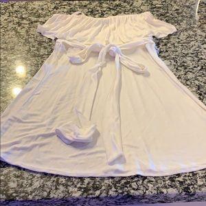 White BCBG summer dress/ cover up